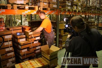 Съемка видеоролика о работе склада под управлением WMS системы ARENA.WMS