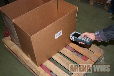 Отбор с помощью ТСД - подтверждение коробки комплектации.